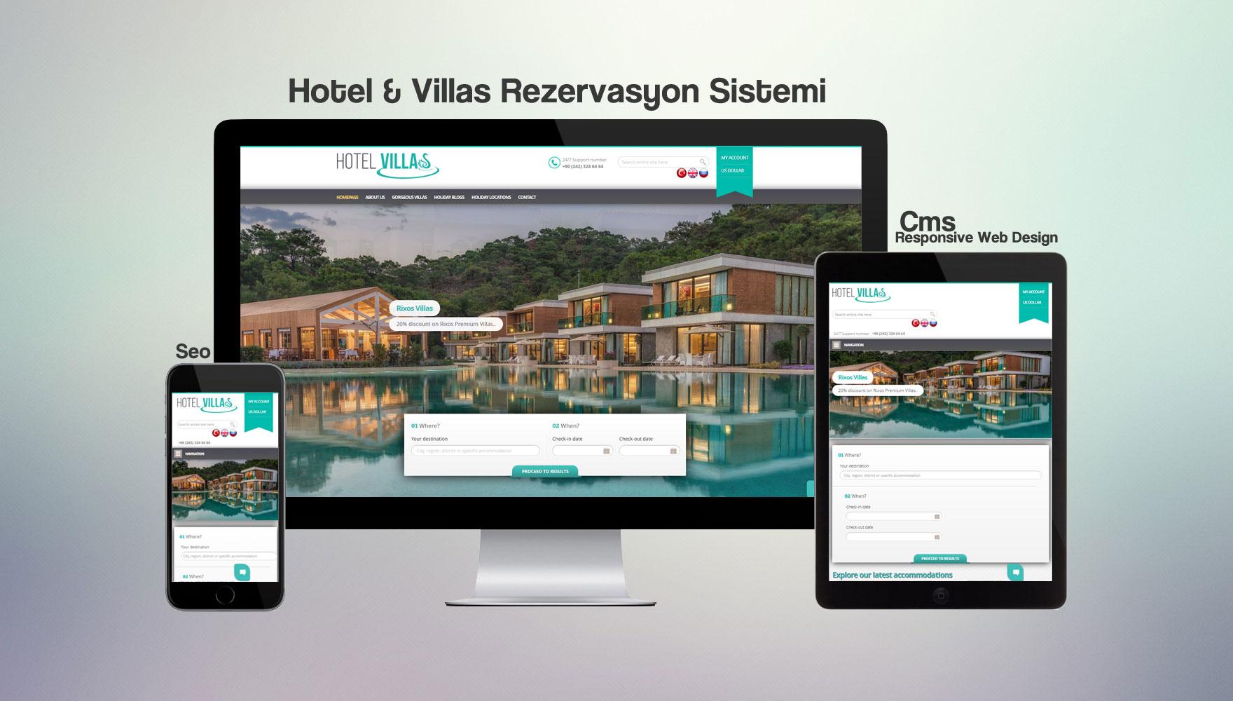 Hotel & Villas Rezervasyon Sistemi
